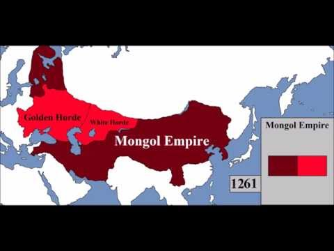 Rise and Fall of the Mongol Empire (Map) - Every Year