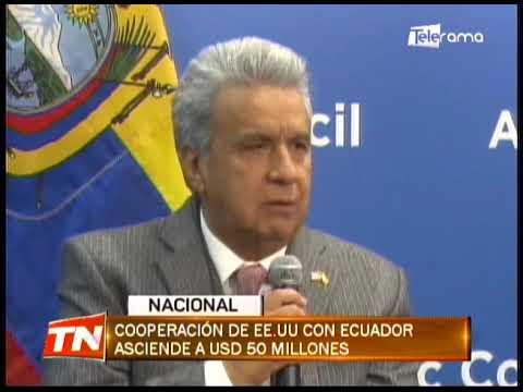 Cooperación de EE.UU. con Ecuador asciende a USD 50 millones