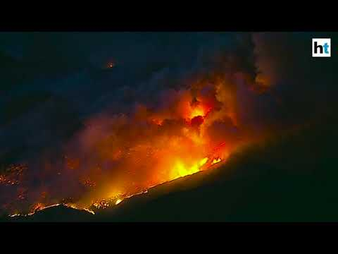 Southern California wildfire roars to life again in Ventura County