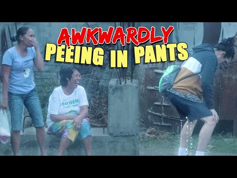 Awkwardly Peeing In Pants Prank