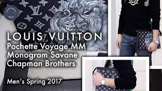 Also check out my unboxing video: https://youtu.be/ZMtAOVivwXo A more detailed look of the spring 2017 men's pochette voyage MM in monogram savane ink (encre...