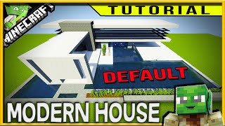 Minecraft: HOW TO BUILD A SIMPLE MODERN HOUSE IN DEFAULT (easy to follow steps)