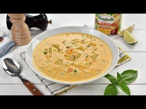 Supa cremoasa de porumb cu creveti (CC Eng Sub) | JamilaCuisine