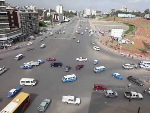 Traffic At Meskel Square Addis Abeba Ethiopia