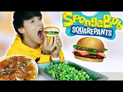 i only ate SPONGEBOB FOODS for 24 hours!!!