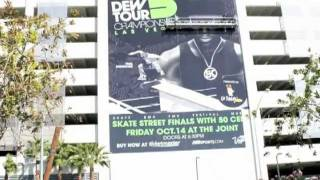 Off The Wall Signs: Dew Tour Building Wrap - Hard Rock Hotel Las Vegas