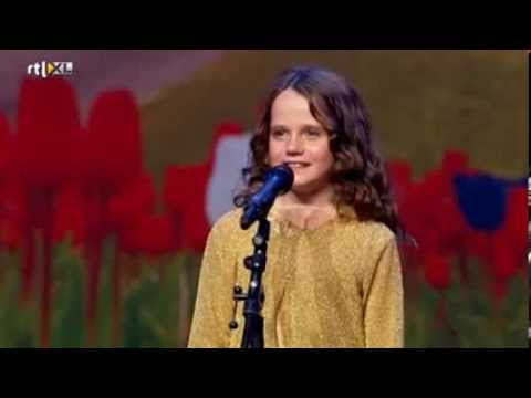 Holland's Got Talent - Amira (9) sings opera O Mio Babbino Caro - Full version (видео)