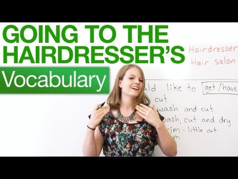 hairdresser - http://www.engvid.com/ Going to get a haircut? In this lesson, I will teach you expressions and vocabulary to use at the hair salon or barbershop. What is th...