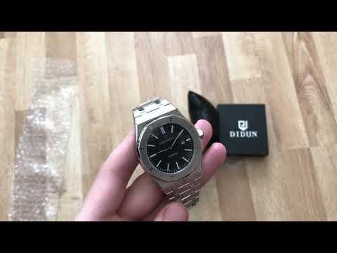Didun Watch  обзор стальных часов из Китая за $50 Хомаж Audemars Piguet (видео)