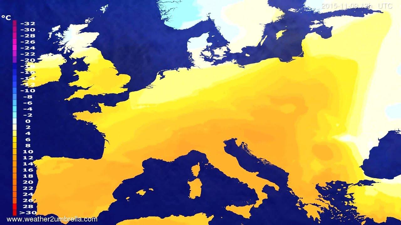 Temperature forecast Europe 2015-11-06