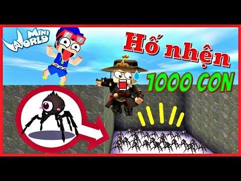Mini World: Troll kairon bằng hố tử thần 1000 con nhện độc vì kairon quá keo kiệt và cái kết - Thời lượng: 10 phút.