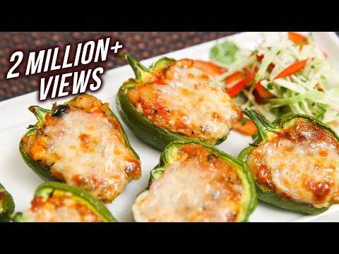 Stuffed Capsicum – Easy To Make Homemade Starter / Party Appetizer Recipe By Ruchi Bharani