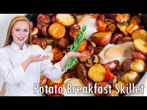 EASY Potato Breakfast Skillet - with Sausage & Eggs!!
