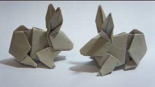 Origami Kağıt Katlama Sanatı Tavşan yapımı
