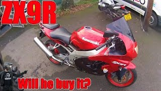 Kawasaki ZX9R! Will he buy it?