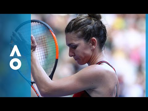 Simona Halep v Angelique Kerber match highlights (SF)   Australian Open 2018