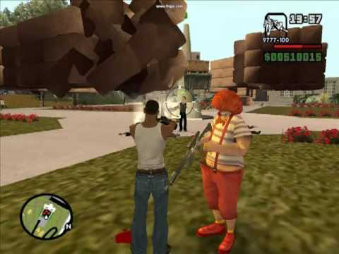 CJ y su mejor amigo Payasin(GTA San Andreas-Loquendo)