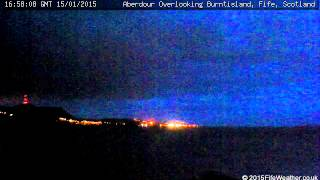 15 January 2015 - Aberdour WeatherCam Timelapse