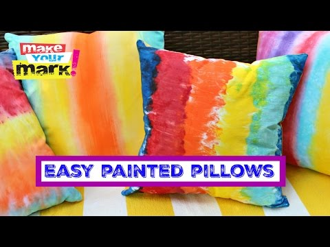 Unicorn SPiT: Easy PAINTED (Not Dyed) Pillows
