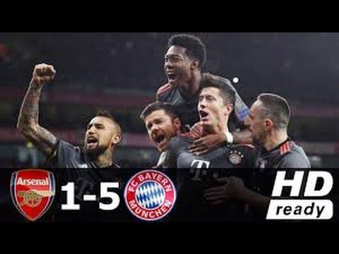 Arsenal vs Bayern Munich 1-5 - All Goals & Extended Highlights - Champions League 07/03/2017