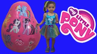 My Little Pony Giant Egg Surprise Opening Unboxing New MLP Toys + Princess Twilight Sparkle