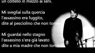 Fabrizio De André - Sally Testo (su Schermo)