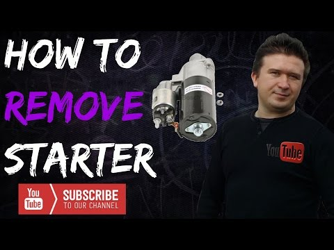 How to remove a Starter on  2004-2006 Mercedes Sprinter  Dodge and Frieghtliner