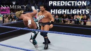 WWE 2K16 Dolph Ziggler vs The Miz | No Mercy 2016 - Prediction Highlights
