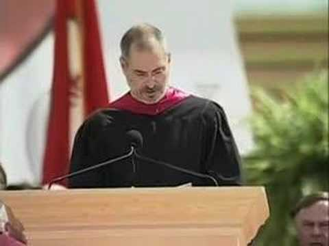 In 2005, Steve Jobs gave a real heartfelt speech at a Stanford University Commencement Address. He talked about the pivotal points in his life and urged graduates to pursue their dreams.
