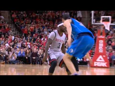 Ty Lawson works over Salah Mejri