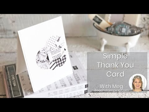 Thank you quotes - Making a Handmade Thank You Card For a Friend  Quick and Easy Card Making for Papercrafters