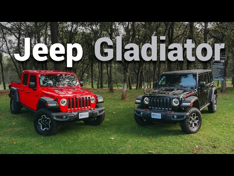 Jeep Gladiator, una pick up en las rocas