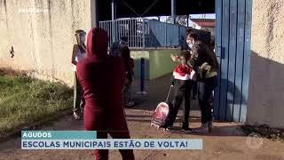 Alunos da rede municipal de Agudos retornam às aulas presenciais