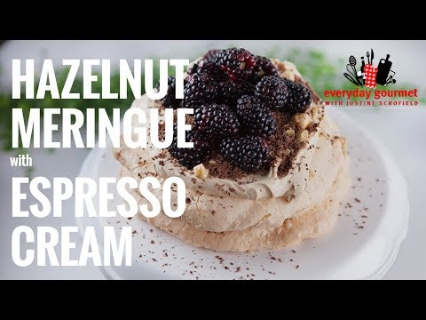Hazelnut Meringue with Espresso Cream | Everyday Gourmet S7 E85