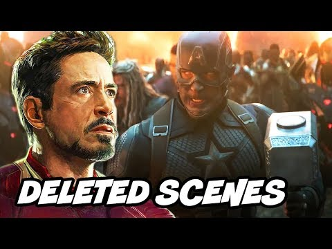Avengers Endgame Deleted Scenes - Iron Man and Black Widow Alternate Ending Breakdown