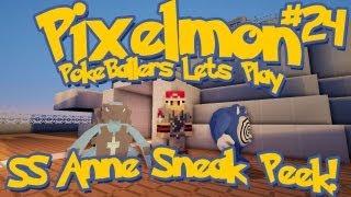 Pixelmon Server Minecraft Pokemon Mod Pokeballers Lets Play! Ep 24 - SS Anne Sneak Peek + More