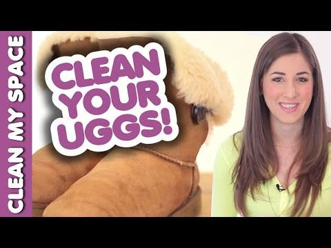 How to Clean Your Ugg Boots! Save Time & Money Cleaning Shoes & Footwear (Clean My Space)