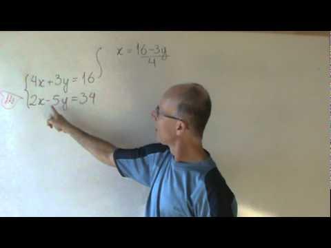 Sistema duas equações 1º grau método da adição