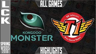 Video KDM vs SKT Highlights ALL GAMES | LCK Week 9 Spring 2018 W9D5 | Kongdoo Monster vs SK Telecom T1 MP3, 3GP, MP4, WEBM, AVI, FLV Juni 2018