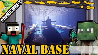 Minecraft Naval base | with Keralis + epic secret | Best Military Base 2015 |