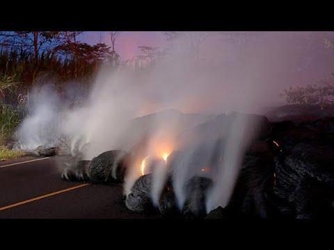 Νέες εικόνες από το ηφαίστειο Κιλαουέα