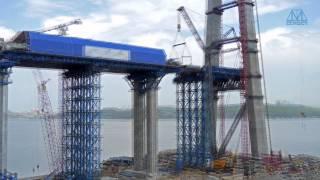 Строительство моста на о. Русский