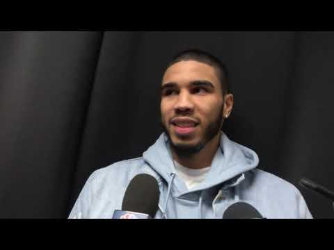 Jayson Tatum Postgame Celtics-Hornets 11/7/19