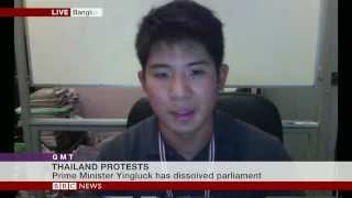 Thailand Anti-Government Protester Interview - BBC News