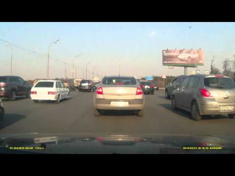 Lada's trunk explodes on Russian Dash Cam