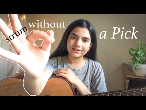 Strumming with Index Finger ~ Learn to Strum Guitar without a Pick for Beginners(Hindi)