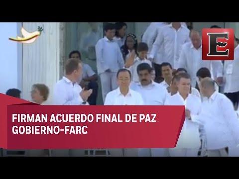Colombia firma el acuerdo final de paz con las FARC