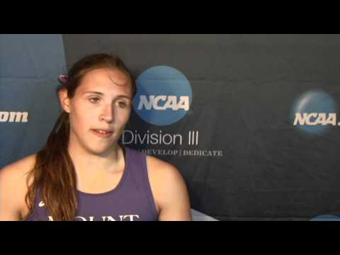Mary Mahoney interview after winning 200m NCAA title