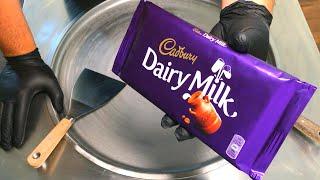 Download Video Ice Cream Rolls | Cadbury - Dairy Milk Chocolate Ice Cream / fried Thailand rolled ice cream roll MP3 3GP MP4