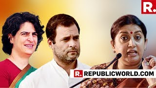 Video Smriti Irani Hits Back At Priyanka Gandhi Vadra Following Latter's 'Outsider' Attack In Amethi MP3, 3GP, MP4, WEBM, AVI, FLV April 2019